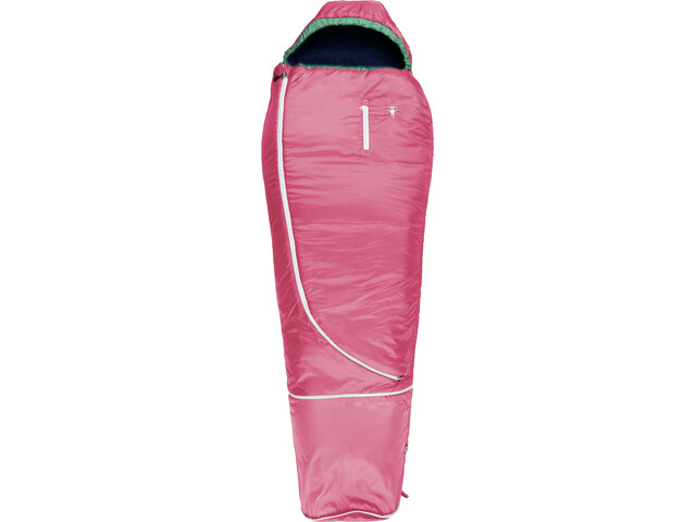 Grüezi-Bag Biopod Wool World Traveller Slaapzak Kinderen, claret red